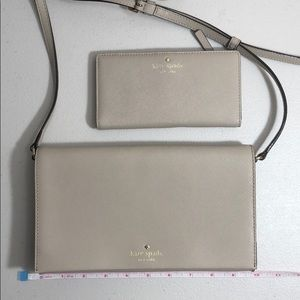 Kate Spade crossbody clutch and matching wallet